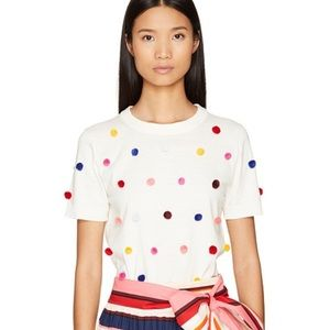 Kate Spade Spice Things Up PomPom Sweater